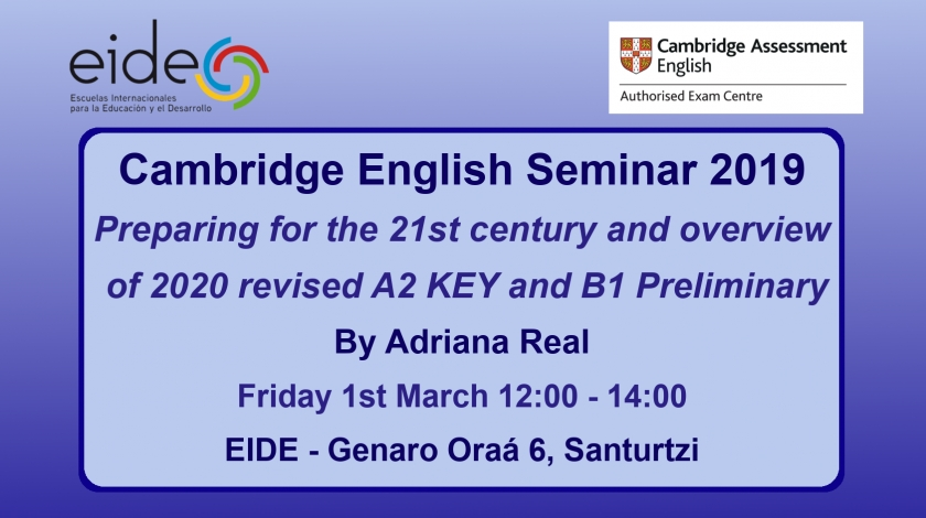 Cambridge English Seminar 2019